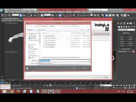 How to export from 3ds Max to .Babylon