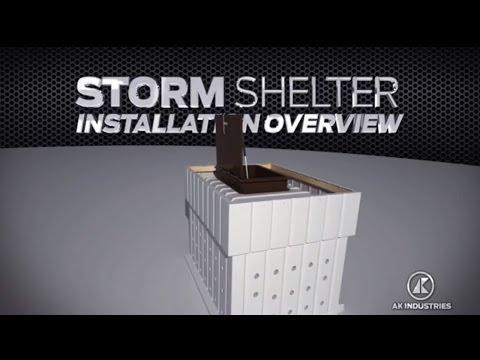 AK Industries Storm Shelter DIY Polyethylene Concrete Mold