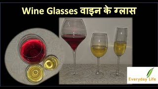 Wine glasses | Types of Wine Glasses | वाइन के ग्लास | How to Serve Wine | Everyday Life