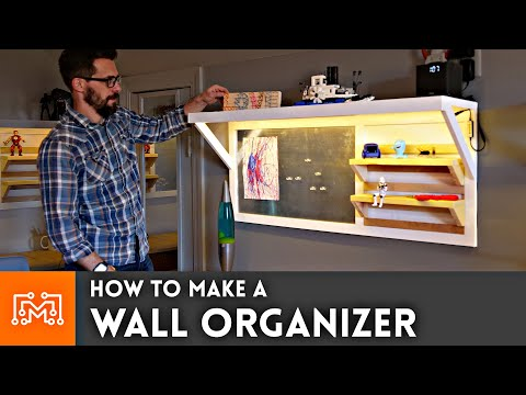 How to Make a Wall Organizer // DIY Woodworking