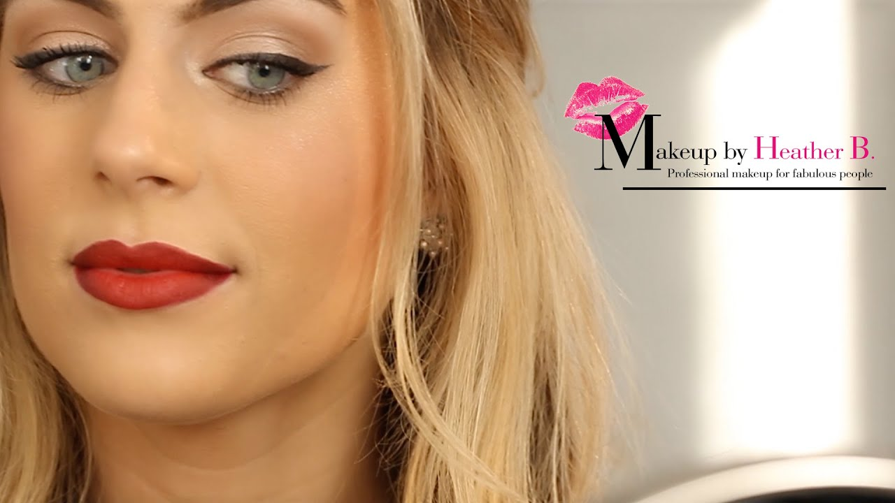 How to do Cat Eye Makeup featuring a Red Lip   Makeup by Heather B