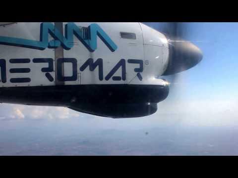 Full Flight, Take off airport Veracruz and landing CD México, ATR42-320 AEROMAR