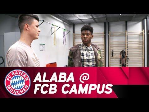 David Alaba visits FC Bayern Campus!