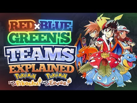 RED, BLUE, & GREEN'S Teams Explained! - Pokemon Let's GO