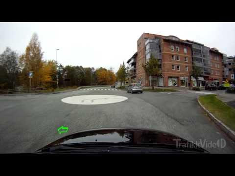 Rundkjøring, blinklys til venstre