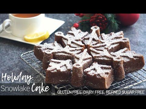 Holiday Bundt Snowflake Cake  - Gluten Free Dairy Free Recipe