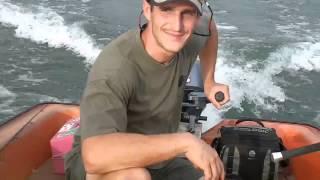 barque pêche, moteur 6cv