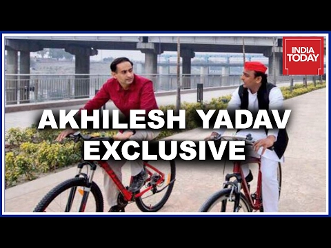Akhilesh Yadav Exclusive Interview On Cycle Ride By Rahul Kanwal