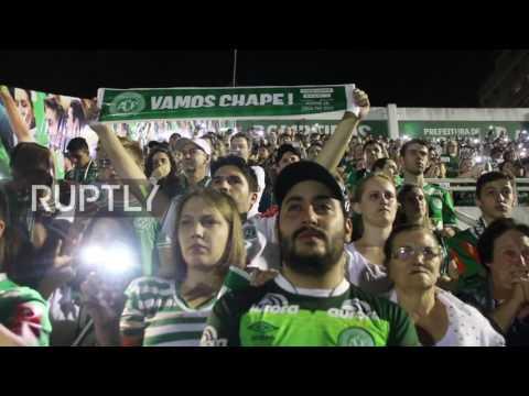 Brazil: Fans fill Chapecoense stadium in tribute to fallen teammates