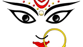Happy Navratri MAA Hindi Drawing
