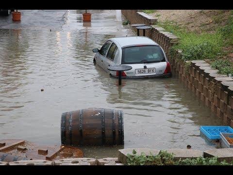 VÍDEO: La tormenta deja 50 litros por metro cuadrado y numerosos daños