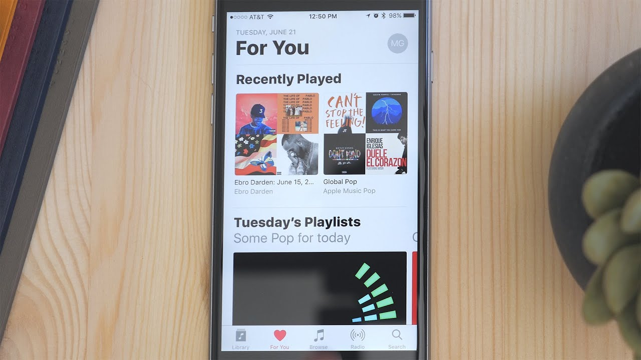 iOS 10's Redesigned Apple Music App