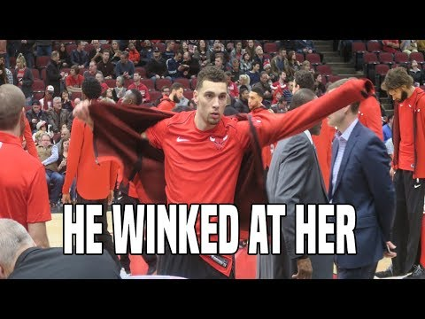 ZACH LAVINE WINKED AT MY GIRLFRIEND IN HIS BULLS DEBUT!