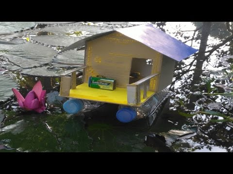 How To Make An  Electric Floating House Boat Powered By Motor(Battery)