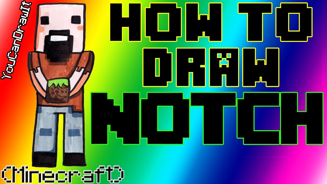 How To Draw Notch Minecraft Creator YouCanDrawIt 1080p