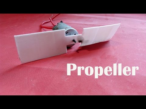 How To Make Propeller / Fan Blades At Home Diy | Easy Way
