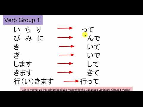 Crash course japanese for beginner level te form verb conjugation also rh youtube