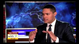 Comedian Trevor Noah celebrates 100 episodes of The Daily Show