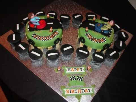 Go Kart Racing Fondant Cake Youtube