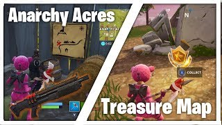 Mapa del tesoro de Anarchy Acres - Fortnite Battle Royale - WRONG - Link In Des For Real One