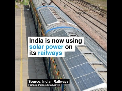 India is now using solar power on its railways