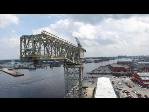 UAV Flight at Norfolk Naval Shipyard - The Historic North End
