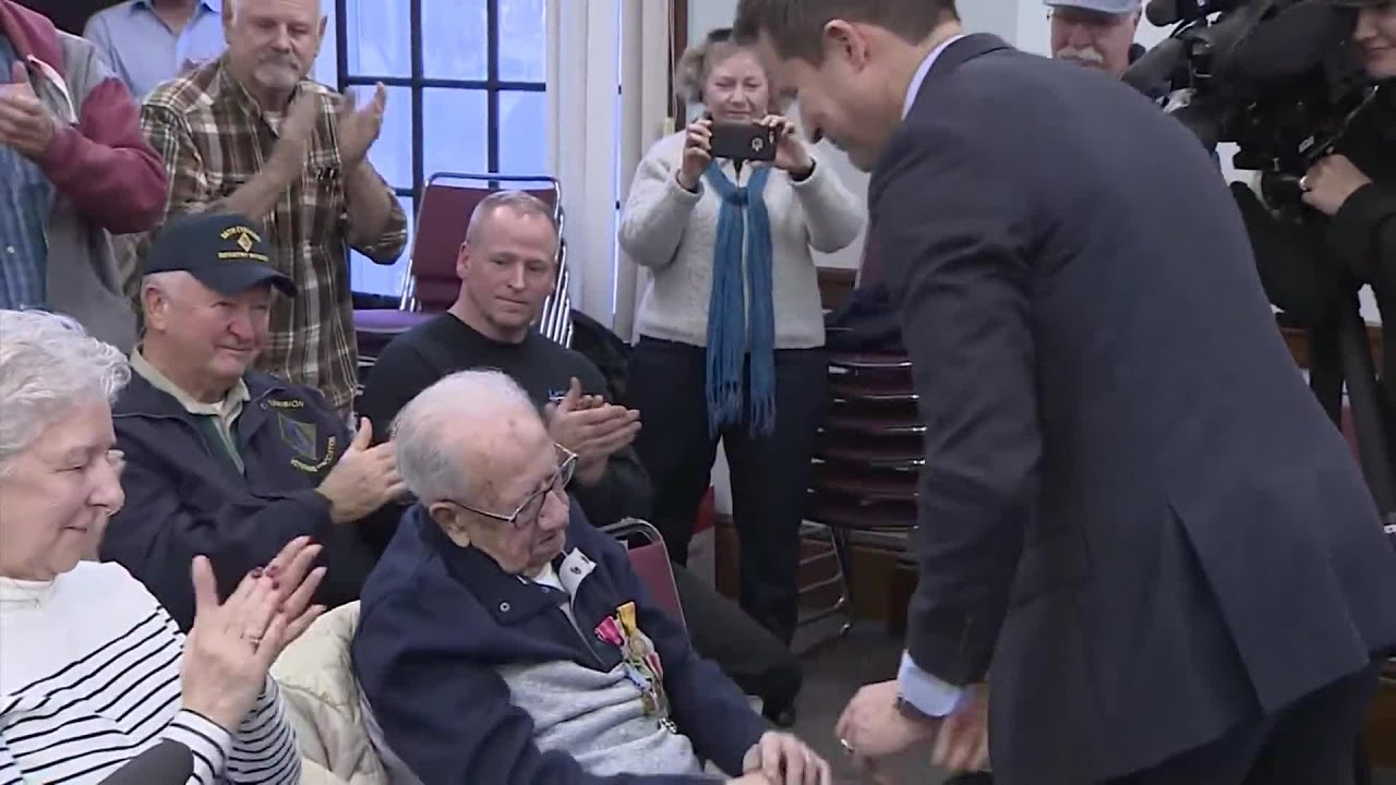 Image result for 103-year-old World War II veteran finally gets his combat medals, 75 years later