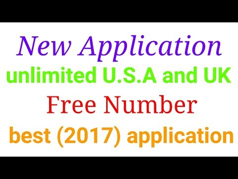 How to Make unlimited U.s.a and UK free numbers (2017) best applicationfree numbers