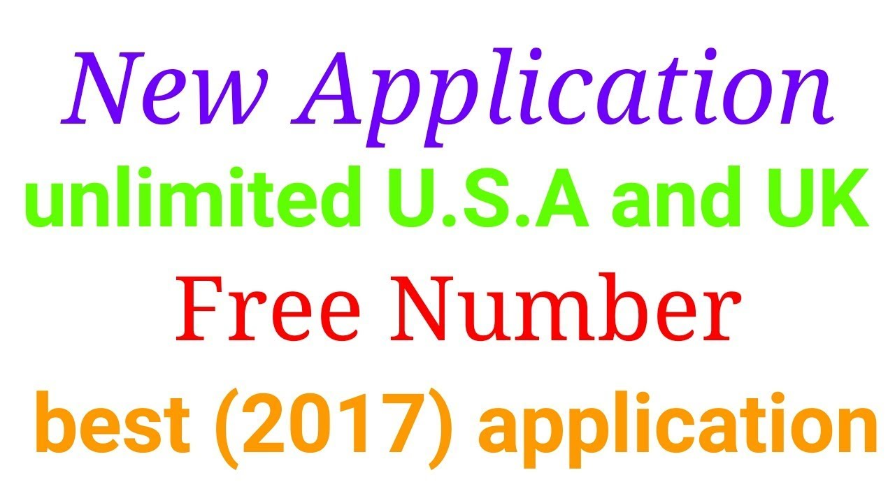 How to Make unlimited U s a and UK free numbers (2017) best