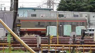 小田急ロマンスカー7000形LSE7003F解体搬出作業