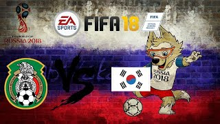 Fifa 18 world cup mode Mexico vs south Korea simulation