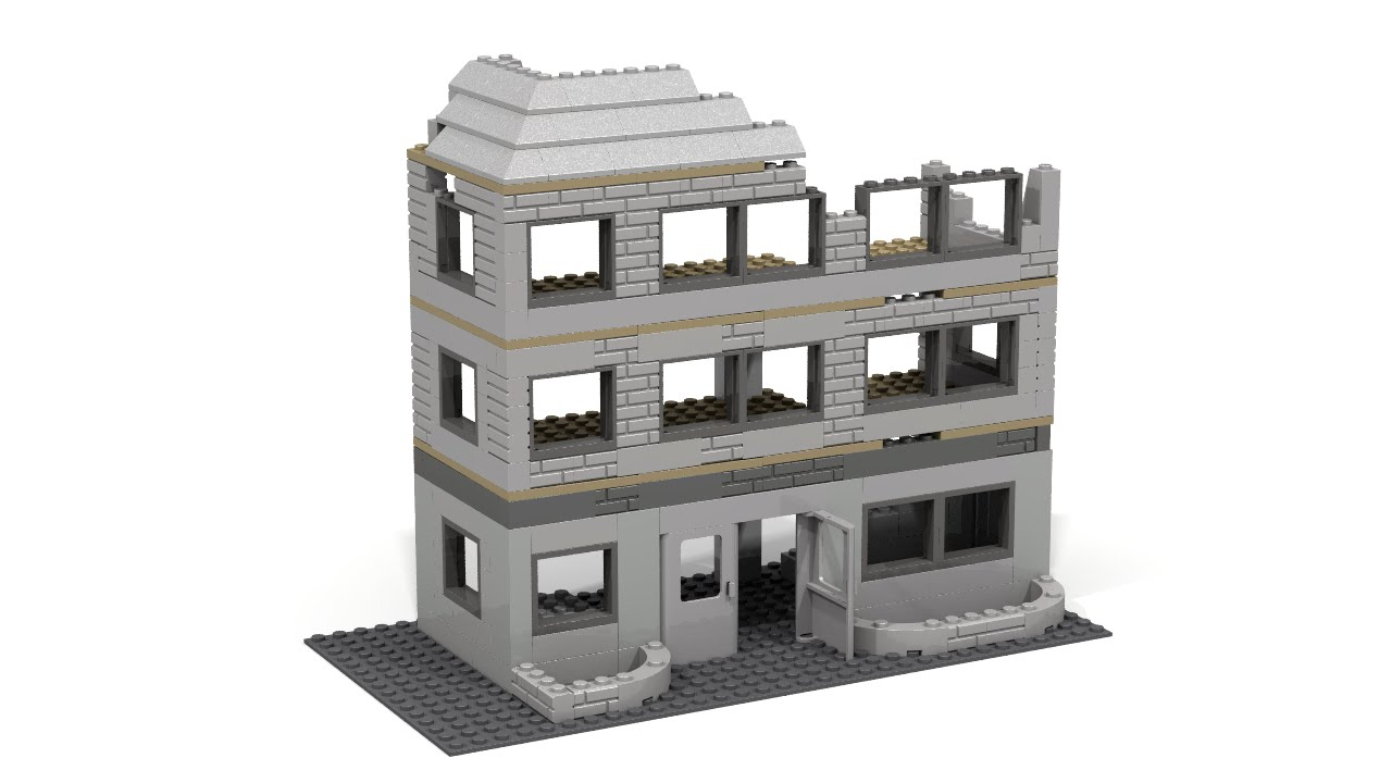 Custom LEGO WW2 Destroyed Building Tutorial   YouTube Custom LEGO WW2 Destroyed Building Tutorial