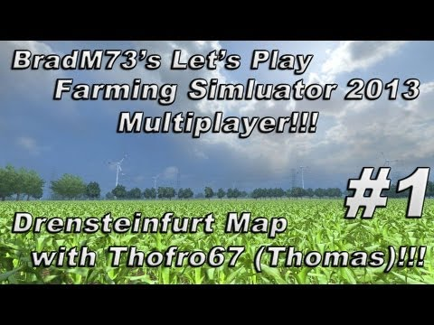 Let's Play Farming Simulator 2013 Multiplayer with ThomasSweden - Ep. 1 - Drensteinfurt Map!