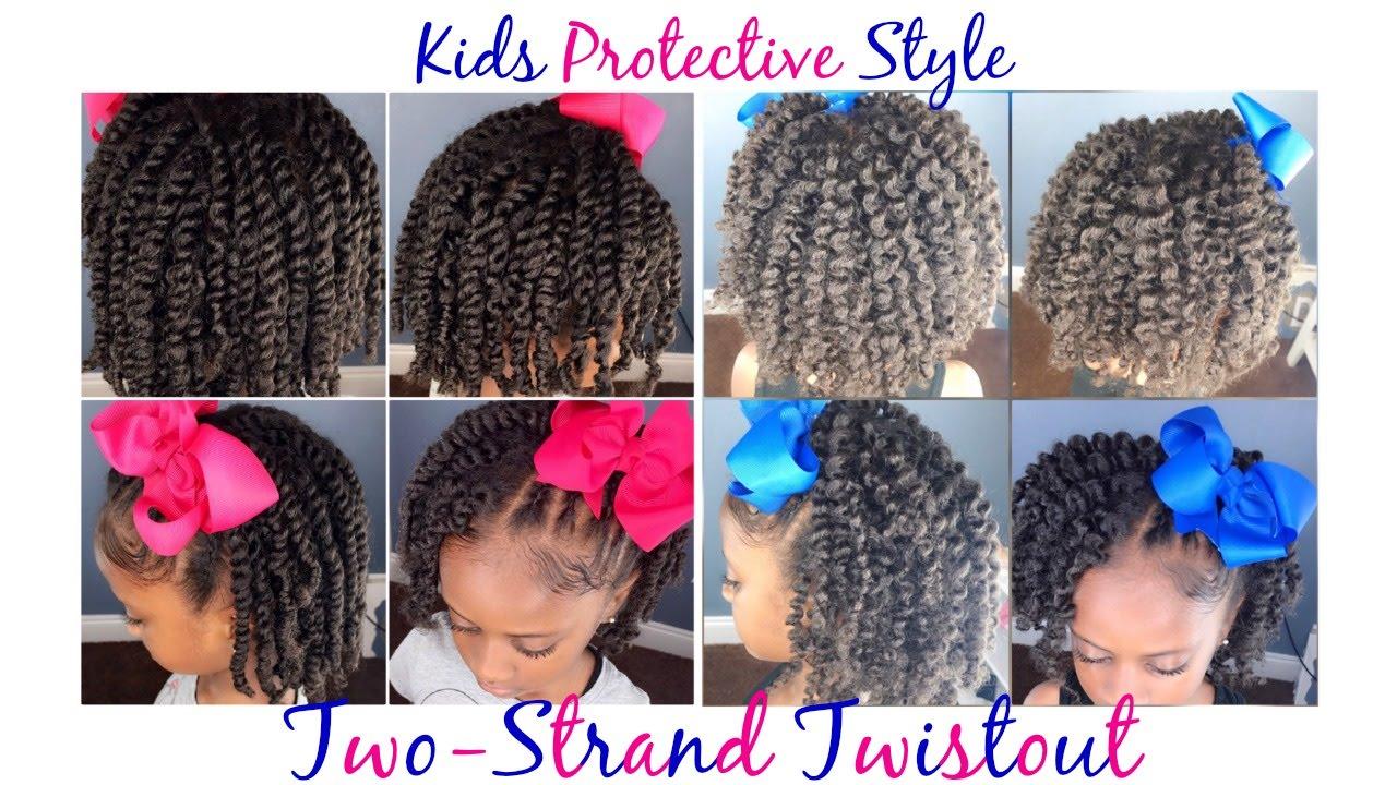two-strand twist/twistout | protective style | kids natural hairstyles | iamawog