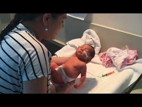 First baby bath
