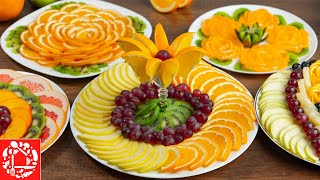Beautiful fruit CUTTING for the Festive table! 5 Fruit Plates for New Year 2021