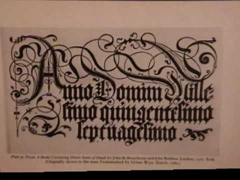 Calligraphy Blackletter By Ted Mayhall Youtube