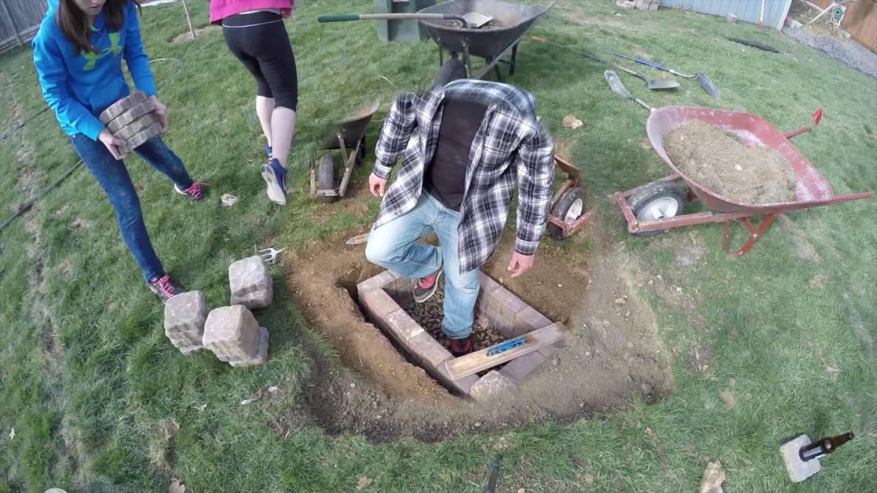 DIY in ground fire pit - YouTube