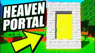 Minecraft: How To Make a Portal To Heaven (No Mods) Minecraft Heaven Portal