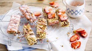 Alpro Recipe – Fruity Topped Granola Bar