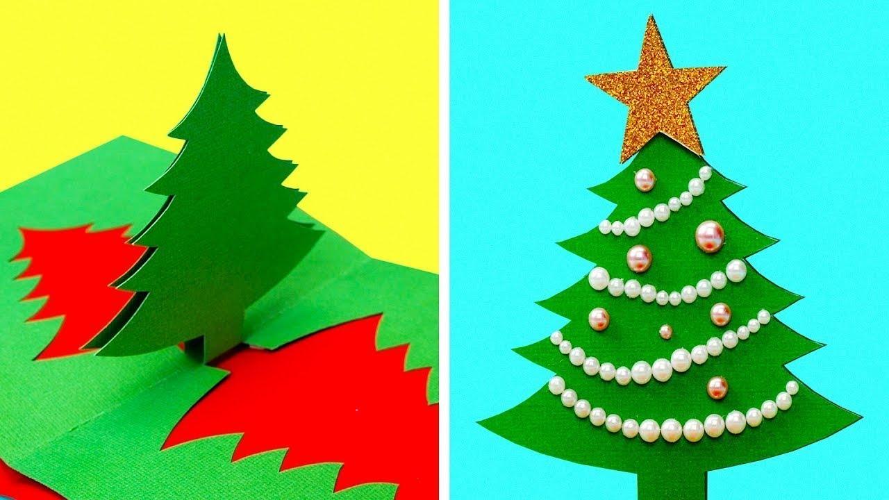 Lavoretti Di Natale In 5 Minuti.22 Idee Per Biglietti D Auguri Natalizi Youtube