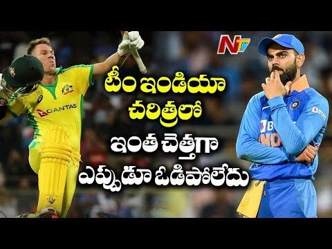 India vs Australia 1st ODI Match   David Warner, Finch dismantle India with Record Stand   NTV