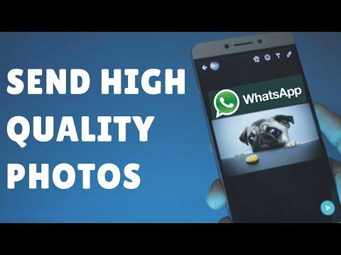 Directly Send Original HIGH QUALITY PHOTOS on WhatsApp (Hindi- हिन्दी)