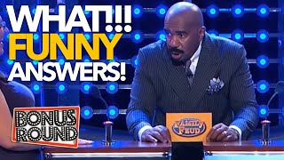 THEY ACTUALLY SAID THAT AS AN ANSWER! Funny Answers & Steve Harvey Reactions On Family Feud USA
