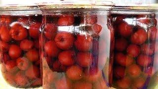 Вишня в собственном соку на зиму(Замечательный рецепт заготовки вишни, особенно пригодится тем, кто увлекается выпечкой. Вишня получается..., 2016-06-29T09:38:08.000Z)