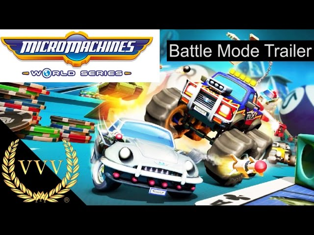 Micro Machines World Series - Battle Mode Trailer