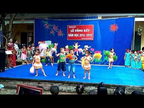Aerobic con cào cào Trường MN Cửu Long Lương SơnHB