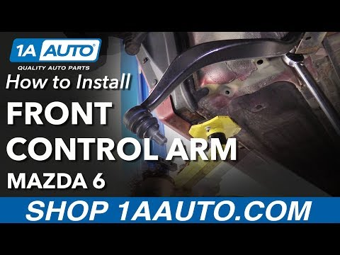 How to Install Replace Front Lower Rearward Control Arm 2006-07 Mazda 6