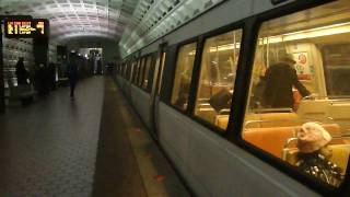 WMATA MetroRail: Rohrs/Rehab/Original Breda/CAF Blue & Orange Line at Staduim-Armory Station