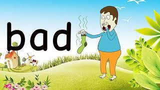 Familie Wörter mit -ad-Fun Educational Cartoon